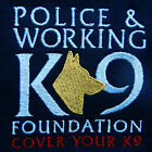 Police & Working K-9 Found Embroidered Police Dog Logo T-Shirt Blue 100%Cotton