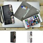 For Apple iPhone 6 / 6S Plus 2-in-1 Leather Flip Strap Cover Card Wallet Case