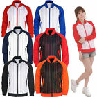 Mens Womens Pin Stripe Running jogging TrackSuit warm up jackets gym training
