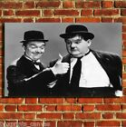 LAUREL AND HARDY MOVIE CANVAS WALL ART BOX PRINT PICTURE SMALL/MEDIUM/LARGE