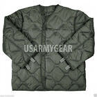 US Army Military M65 Field Jacket Quilted OD Green GI Coat Liner M-65 S M L XL