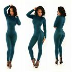 Sexy Womens Zipper Bodycon Long Pants Club Wear Party One Piece Jumpsuit Rompers