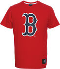 "Official MLB Majestic Athletic Boston Red Sox Red Frittle Blue ""B"" Logo T-Shirt"