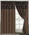 """LUXURY BROWN CURTAINS TO FIT WINDOWS up- to 105"""" (267cm) X 89"""" DROP (226cm)"""