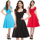 Tea Length Vintage Style 50s Pinup Swing Bridesmaid Party Prom Dress
