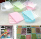 Covered Ice Cube Trays with lid Containers Baby Food Ingredients Storage Freezer