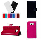 Luxury Premium Glossy Leather Wallet Case For Samsung Galaxy S6 and HTC One M9