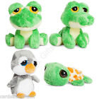 "Aurora Dreamy Eyes 5"" Inches Soft Toy Frog Alligator Turtle Penguin Large Eyes"