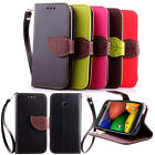 New PU Leather ID Card Wallet Cover Case Skin For Motorola Moto G2 G E X Phone