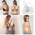 Lady Padded Bra Tops Sexy Bustier Cutout Vest Crop Top Bralette Tank Cami Blouse