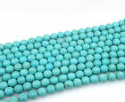 New 100Pcs Natural Turquoise Gemstone Round Spacer Loose Beads Charm Jewelry