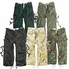 Surplus Engineer Vintage Army Military Style 3/4 Men Combat Cargo Shorts