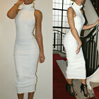 Sexy Women Slim Fit Turtleneck Bandage Bodycon Work Party Pencil Dress Clubwear