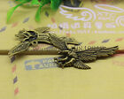 Free shipping 6-30pcs Retro Style ancient silver alloy eagle Charms Pendants
