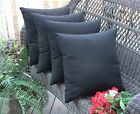 "Set of 4 Pillow Covers - 20"" Indoor / Outdoor - Choice of Solid Color"