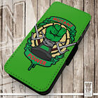 Mutant Power - Printed Faux Leather Cover Case Flip Style. Turtles Inspired