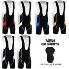 Mens Cycling Bib Shorts Lycra Tights Cycle Bicycle Hi-Density Padded All Sizes