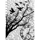 Tim Holtz Cling Collage Rubber Stamp Select:Time Flutter Birdsong Ticket Ledger