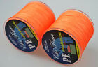 Dyneema 300M PE Strong Braid Fishing Line 4 Strands Orange 12LB-140LB Spectra
