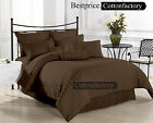 Sale Offer Brand New Hotel Brown 1000TC Duvet Set & Sheet Set 100%Cotton Striped