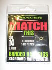 Maver 3pks x Banded Hair Rigs ALL VARIETIES Fishing tackle