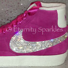 Customised Hot Pink Crystal Diamante Nike Blazers Made With SWAROVSKI ELEMENTS