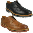 NEWKIRK WING MENS CLARKS LEATHER LACE UP SMART BROGUE FORMAL SHOES G FITTING