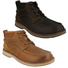 MAHALE MID MENS CLARKS NUBUCK LEATHER LACE UP G FITTING CASUAL BOOTS