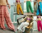 LADIES HAREM PANTS - TIE DYE , BALLOON, BAGGY, HIPPY  - MIXED COLOURS/ MOTTLE