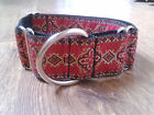 "Greyhound  / whippet  / saluki lurcher  1.5"" Martingale Dog Collar  renaissance"