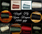 1 Ply Spun Rayon Cone Yarn  Several Color Choices Knit Weave Crochet