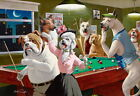 Home Art wall Decor Dogs Playing Pool Oil painting Picture Printed on canvas