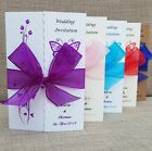 Personalised Gatefold Wedding Day Evening Invitations Butterflies With Envelopes