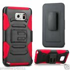 Hybrid Outer Box Case Cover w/ Stand Belt Clip Holster for Samsung Galaxy Note 5