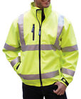 Yoko Hi-Vis Softshell Jacket Front Zip Safety Workwear High Visibility Viz Top
