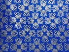 Timeless Treasures Fabric Gold Metallic Blue Palazzo Fat Quarter, By the Yard