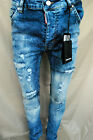 New Men's Jeans Dsquared Made In Italy Blue All Sizes