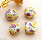 1Set/4pcs New Chinese Tradition Handmade Porcelain  Powder Case Box Jewelry Box