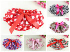 New Baby Infant Girls satin Ruffle Panties Briefs Diaper Cover Pants 0-18 months