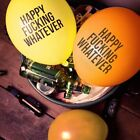24Pcs Novelty Joke Happy Fuxking Whatever Quote Party Latex Birthday Balloons