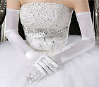 1 Pair Flower Girls stretchy Wedding Bride Communion Pageant Long Satin  Glove