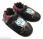 Baby Girl's Toddler Brown /Pink Dotty Owl  Rose et Chocolat Leather Pram Shoe