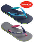 Havaianas Mens Brasil Mix Flip Flops 4123206 Various Sizes Grey or Blue