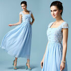 European Fashion Womens Summer Retro Palace Lace Chiffon Big Pendulum Long Dress