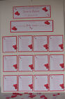 LOVE HEART Wedding :TABLE PLANS & WISH TREE;5 designs / 60 colours/ any qty