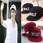 FO0A Korea WOLF EXO first year embroidered Comfort Fashion snapback Cap Hat UK0A