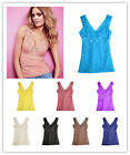 New Stylish Female Hollow Out Lace V Vest Tank Tops Cami Tanktop Camisole UKSK