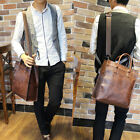 2 colors Men's Leather shoulder bag Briefcase Messenger bag Laptop Tote Bags