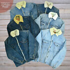 Vintage Levis Denim Sherpa Jacket Fur Lined Various Colours XS S M L XL XXL