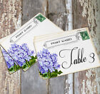 DOUBLE or SINGLE SIDED HYDRANGEA POSTCARD WEDDING TABLE CARDS or SIGNS #603